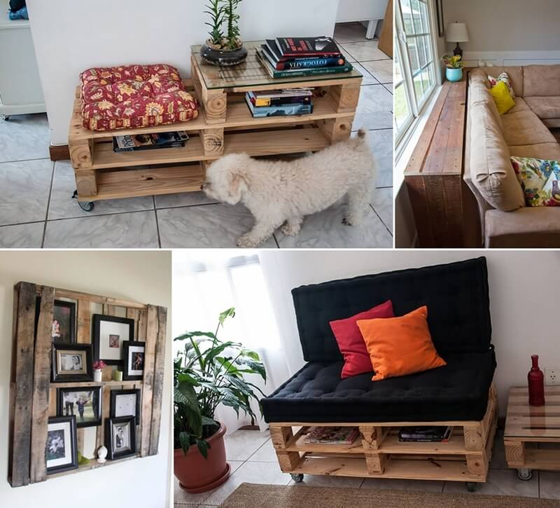 Make furniture for your living room with pallets for Build your living room
