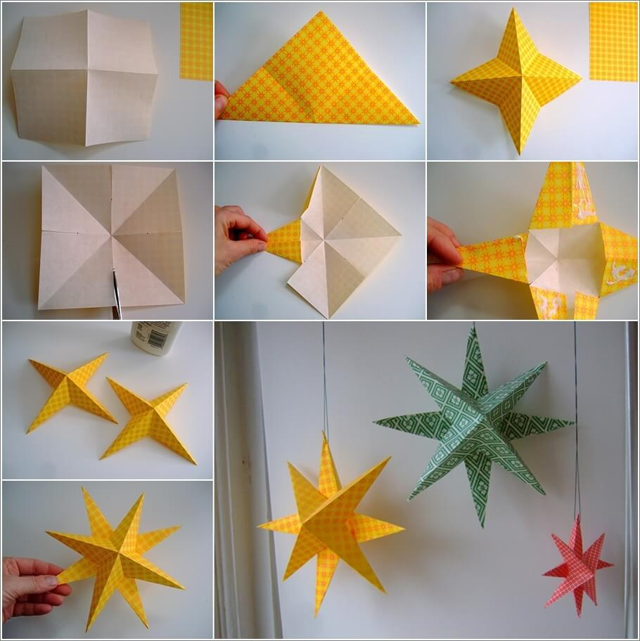 Make These Easy Paper Stars for Christmas 1