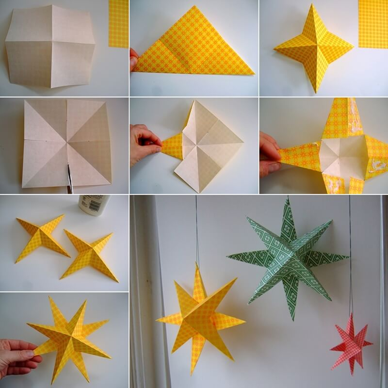 Paper christmas decorations to make at home how to make for Easy paper christmas decorations to make at home