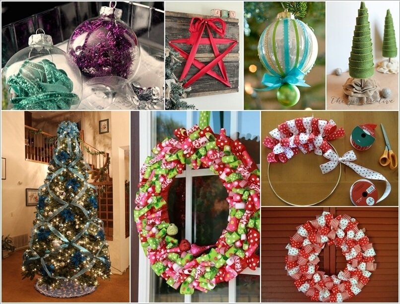 Make This Year's Christmas Decor with Ribbons a
