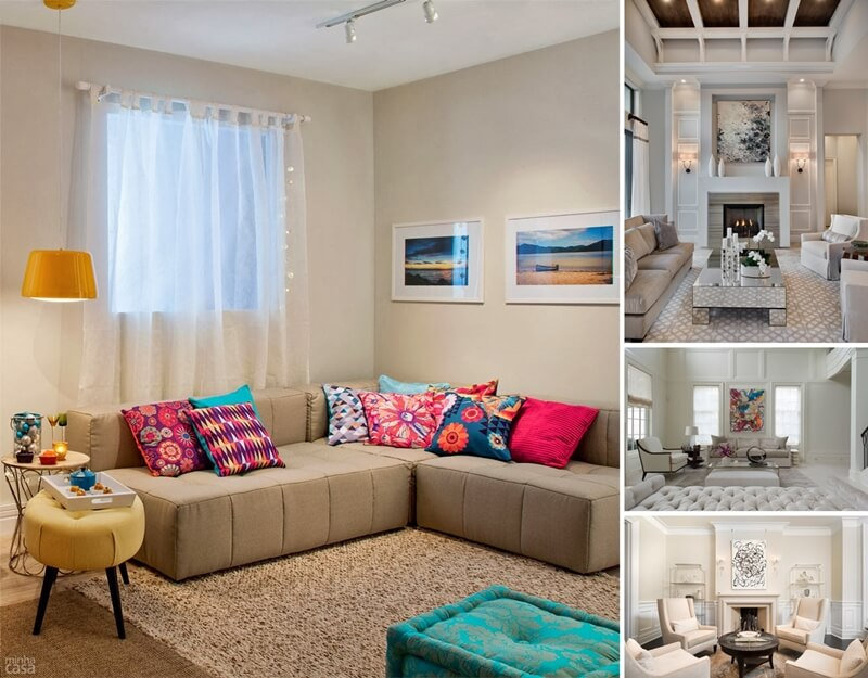 Spread colors and life in your neutral living room for Living room designs neutral colors