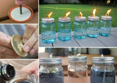 These Mason Jar Candles Would Look Lovely on a Winter Bonfire  fi