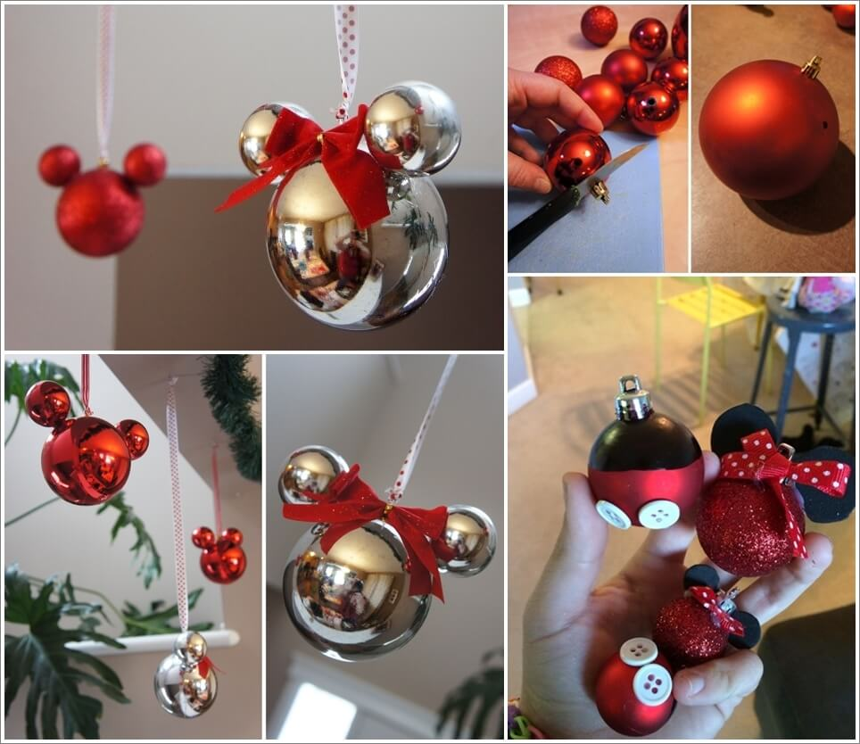 these mickey mouse ornaments are just adorable - Mickey Mouse Christmas Decorations