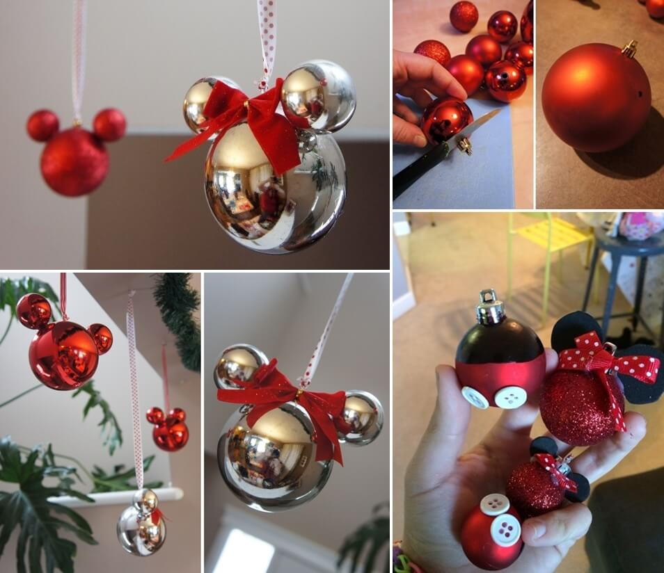 these mickey mouse ornaments are just adorable - Christmas Tree Decorations Mickey Mouse