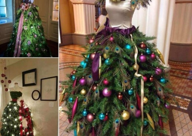 Wow! These Christmas Trees are Made with Mannequins fi