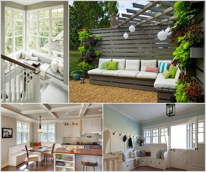10 Ways to Decorate Your Home with Corner Benches a