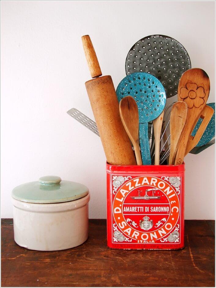 15 Practical Utensil Storage Ideas for Your Kitchen 12