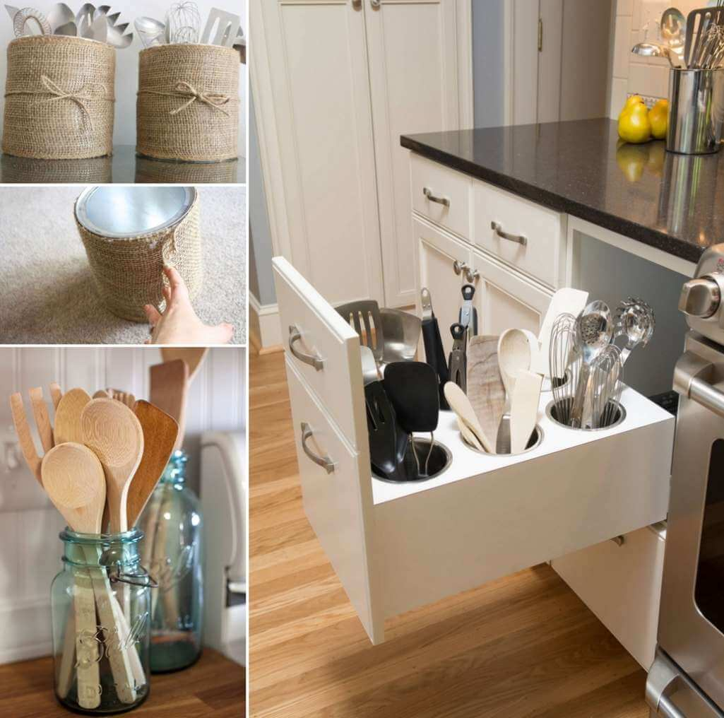 Interior Design Home Decorating Ideas: 15 Practical Utensil Storage Ideas For Your Kitchen
