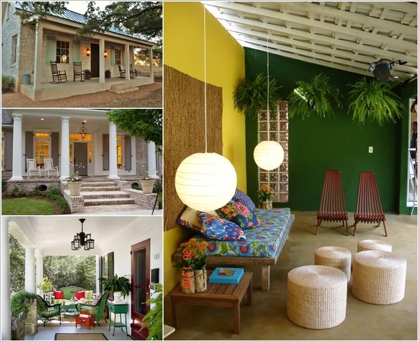 Add Color To Your Porch and Make It Cheerful a