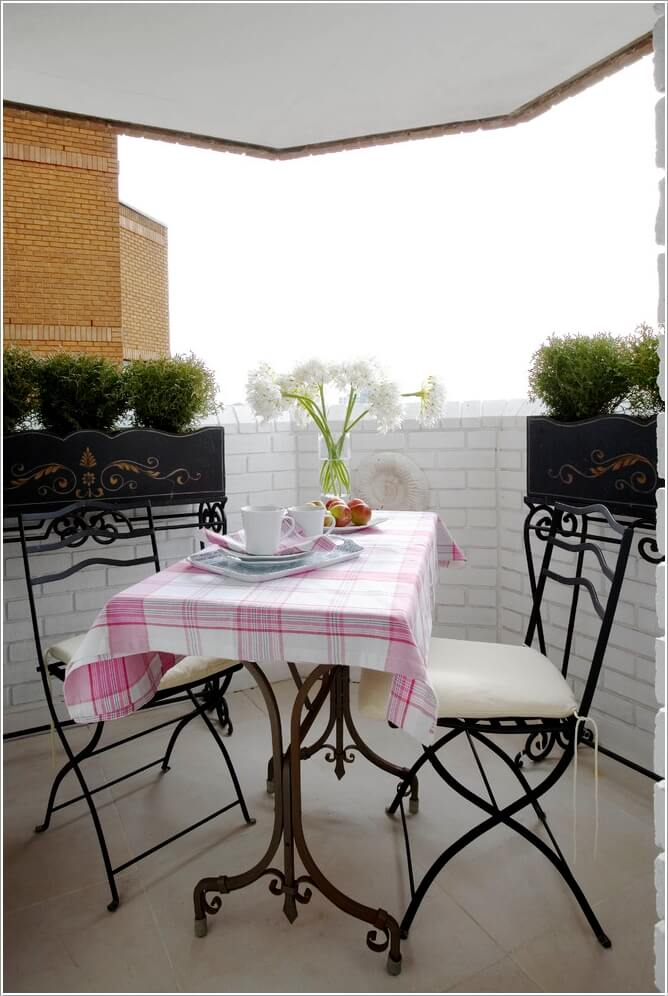 Add Spice to Your Balcony with a Cool Table 1
