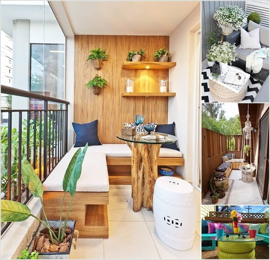 Add Spice to Your Balcony with a Cool Table a