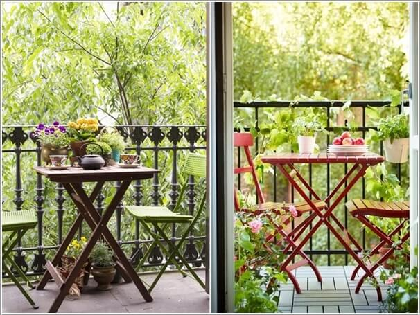 Add Spice to Your Balcony with a Cool Table 6