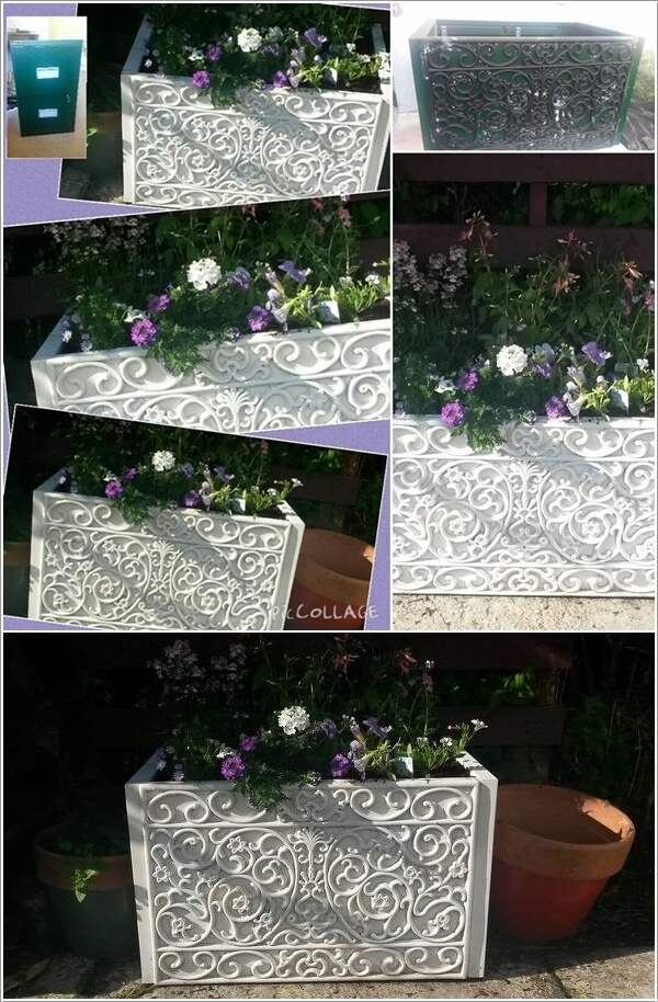 Cool and Creative Recycled Furniture Planter Ideas 6