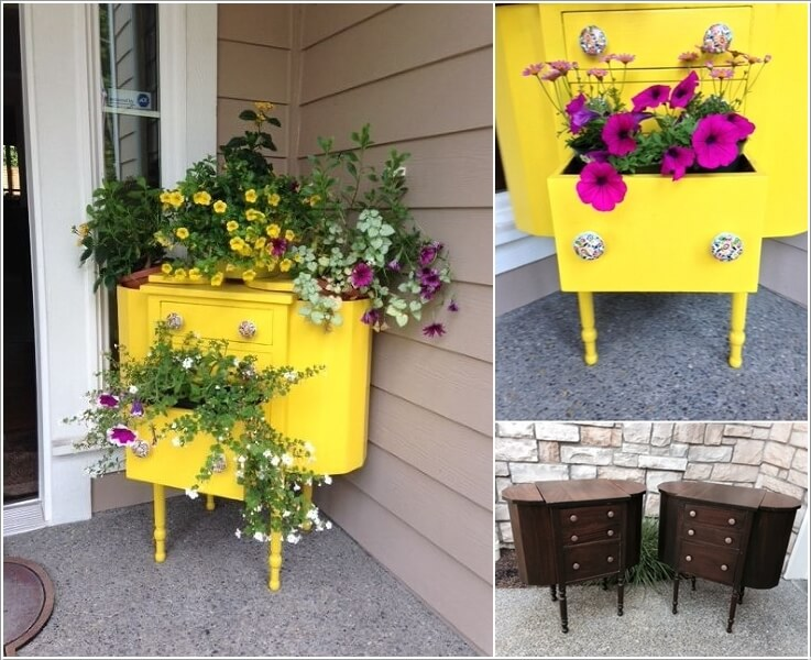 Cool And Creative Recycled Furniture Planter Ideas 8