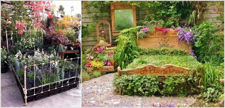 Cool and Creative Recycled Furniture Planter Ideas 9