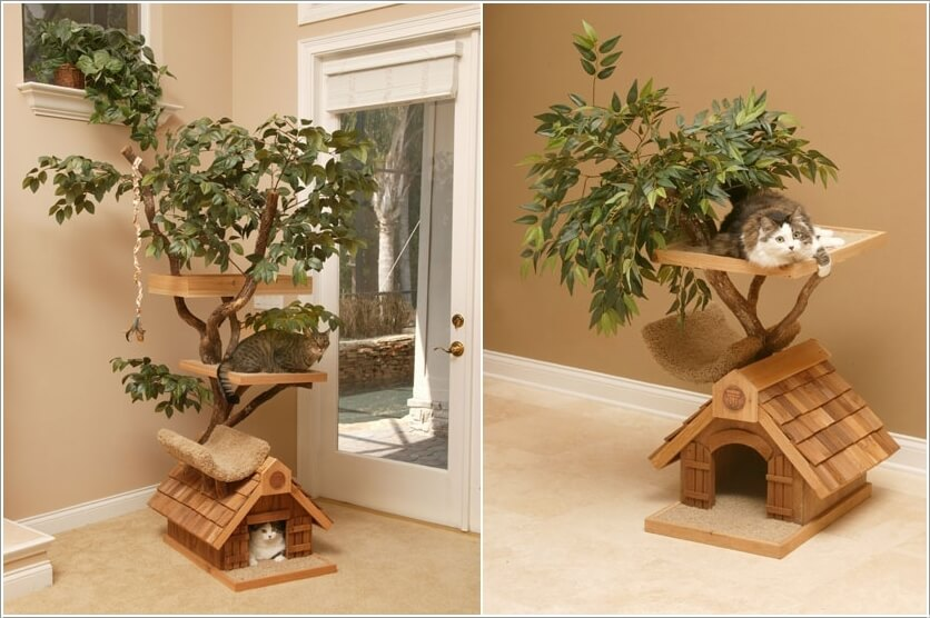 Cool Cat Tree Furniture Designs Your Cat Will Love 1