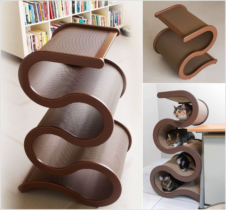 cool cat tree furniture condo curvy ribbon cat tree cool furniture designs your will love
