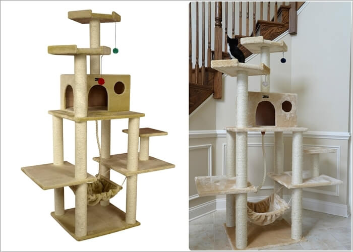 Cool cat tree furniture designs your cat will love for Cat tree blueprints