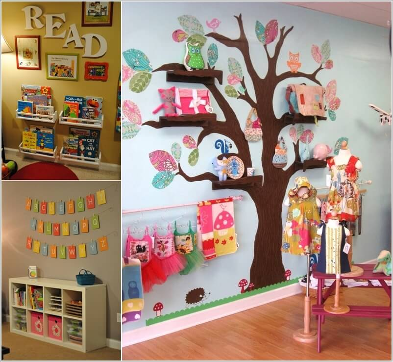 Decorate Your Kids Playroom Wall with a Creative Idea