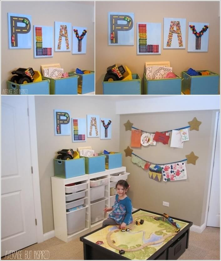 Decorate Your Kids' Playroom Wall with a Creative Idea 10