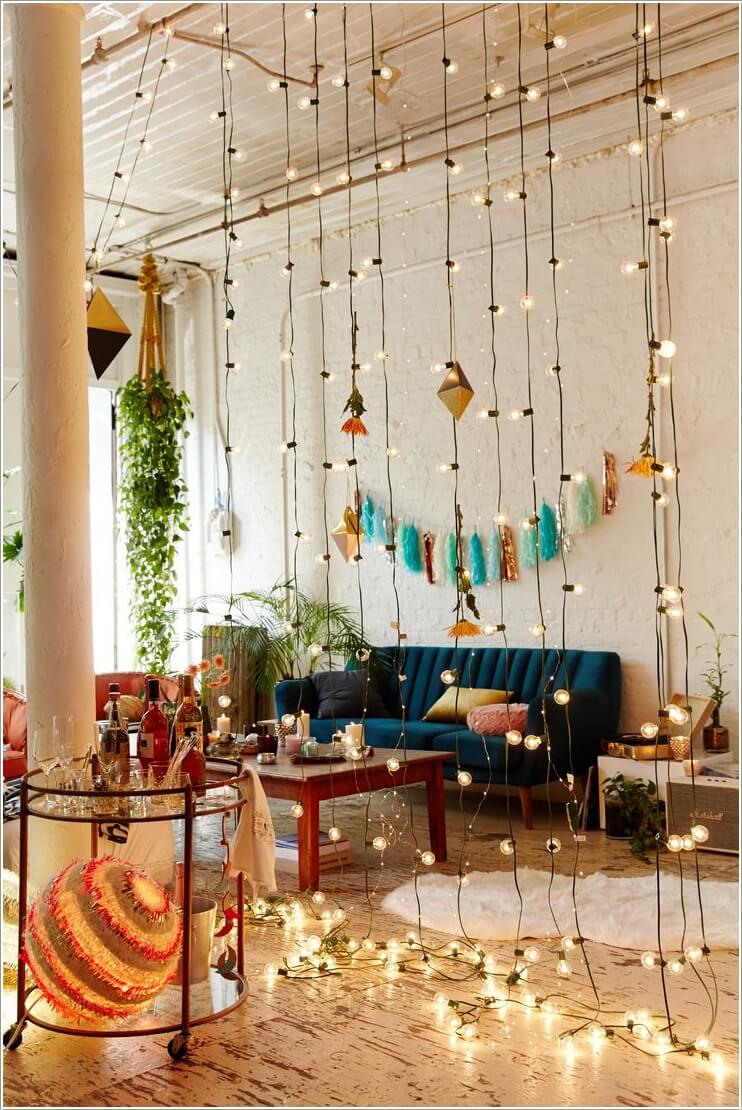 String Lights In Your Room : Decorate Your Living Room with String Lights