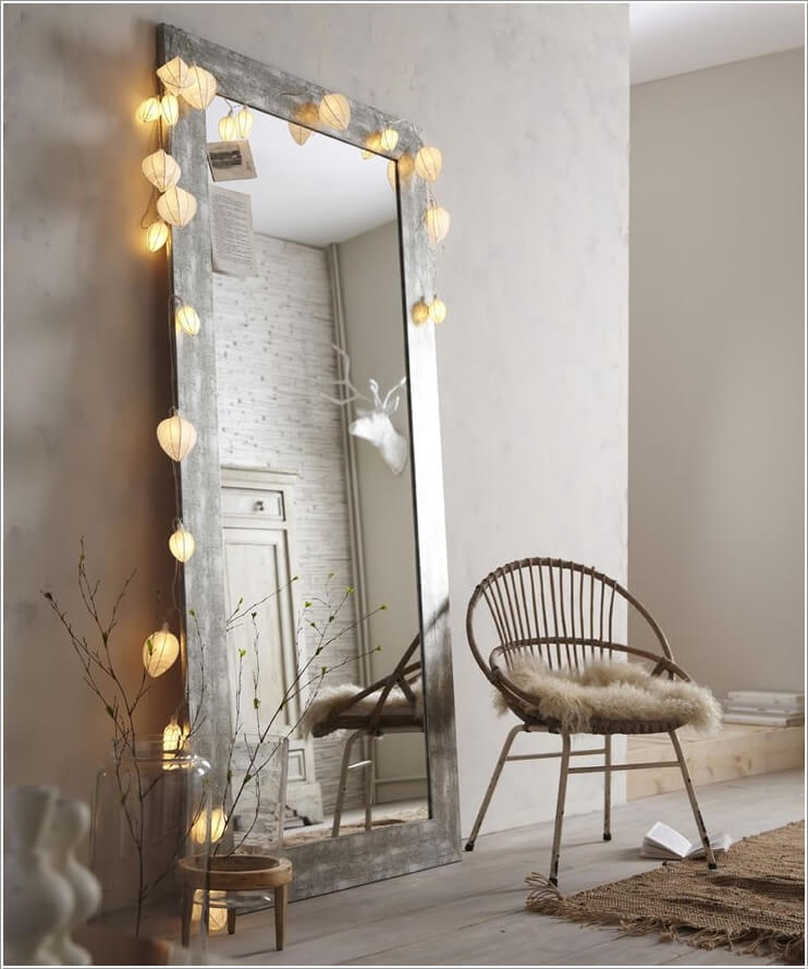 Decorate Your Living Room with String Lights 6