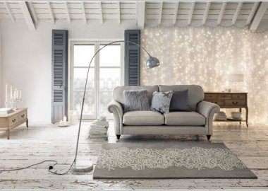 Decorate Your Living Room with String Lights 8