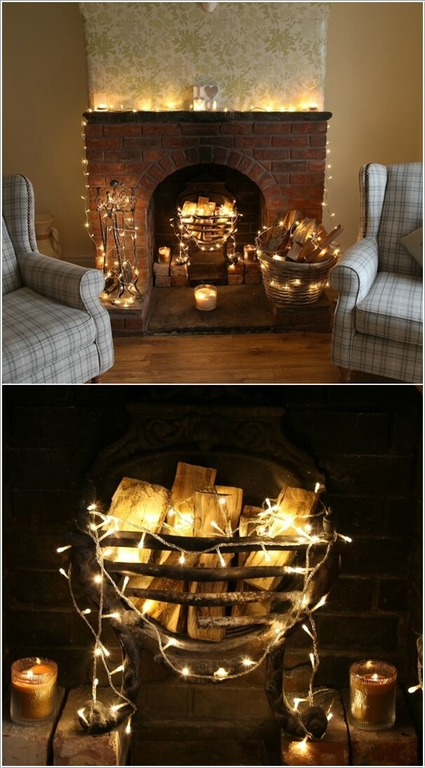 Decorate Your Living Room With String Lights