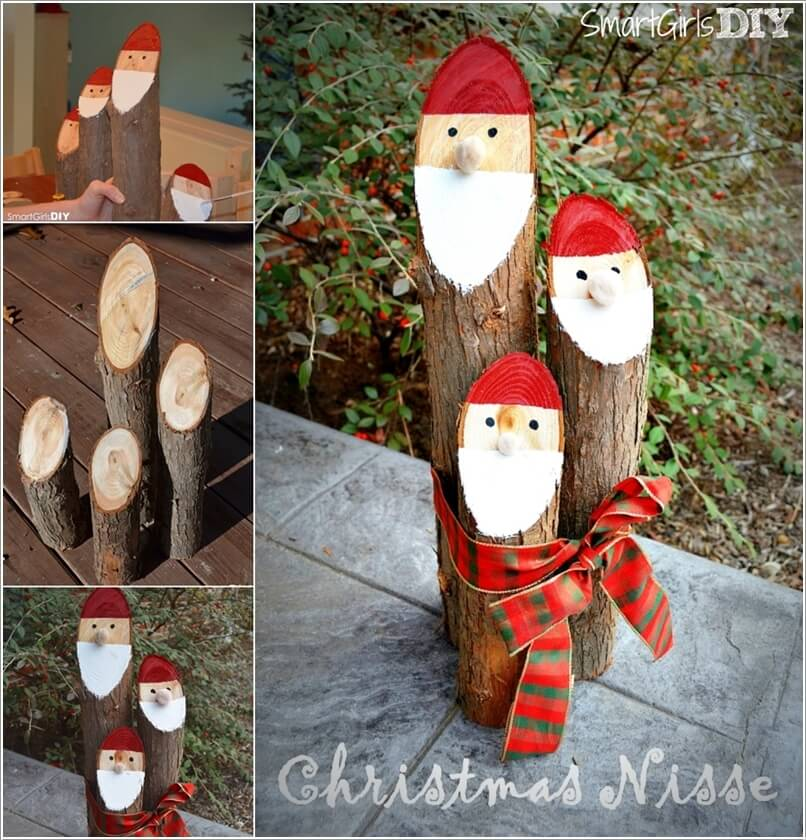 How About Making Log Christmas Decorations 1