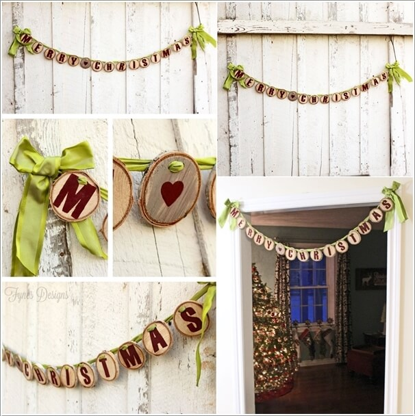 How About Making Log Christmas Decorations 15