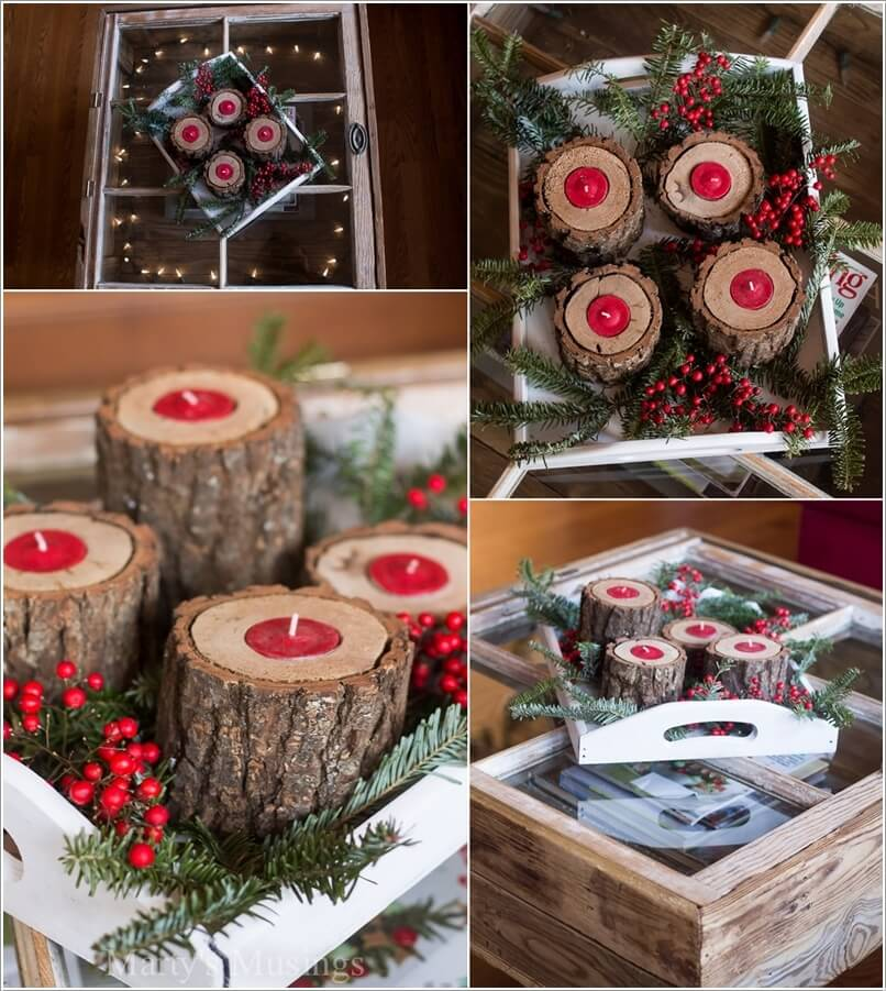 How About Making Log Christmas Decorations 5