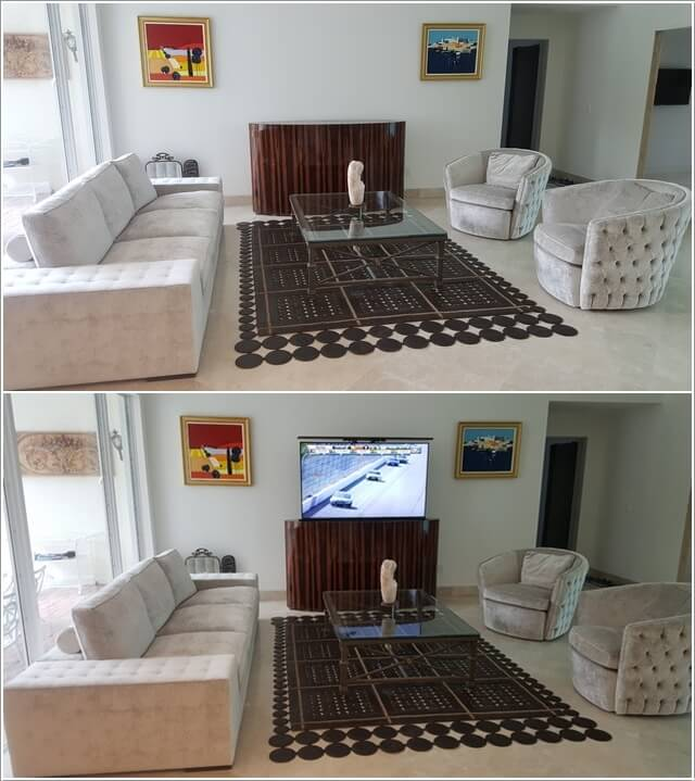 How to Hide Your TV in The Living Room 7