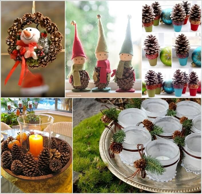 How To Make Decor Projects with Mini Pine Cones a