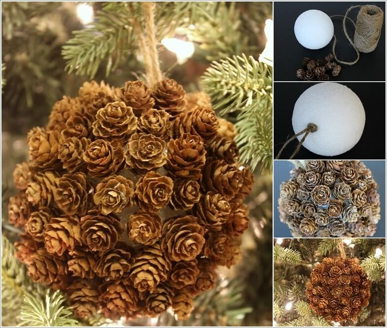 How To Make Decor Projects with Mini Pine Cones 5
