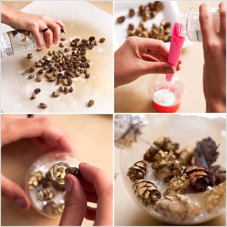 How To Make Decor Projects with Mini Pine Cones 8