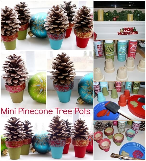 How To Make Decor Projects with Mini Pine Cones 9