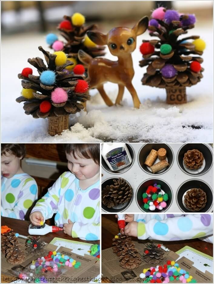 How To Make Decor Projects with Mini Pine Cones 10