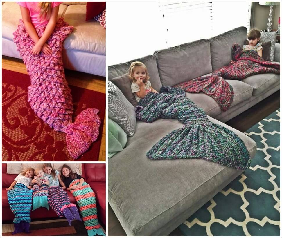 Look at These Awesome Crochet Mermaid Lap Blankets 1