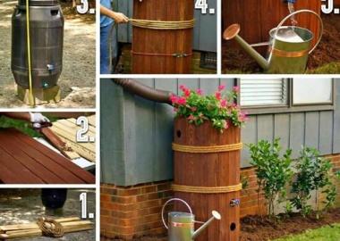 Look At This Budget Friendly Rain Barrel Idea fi