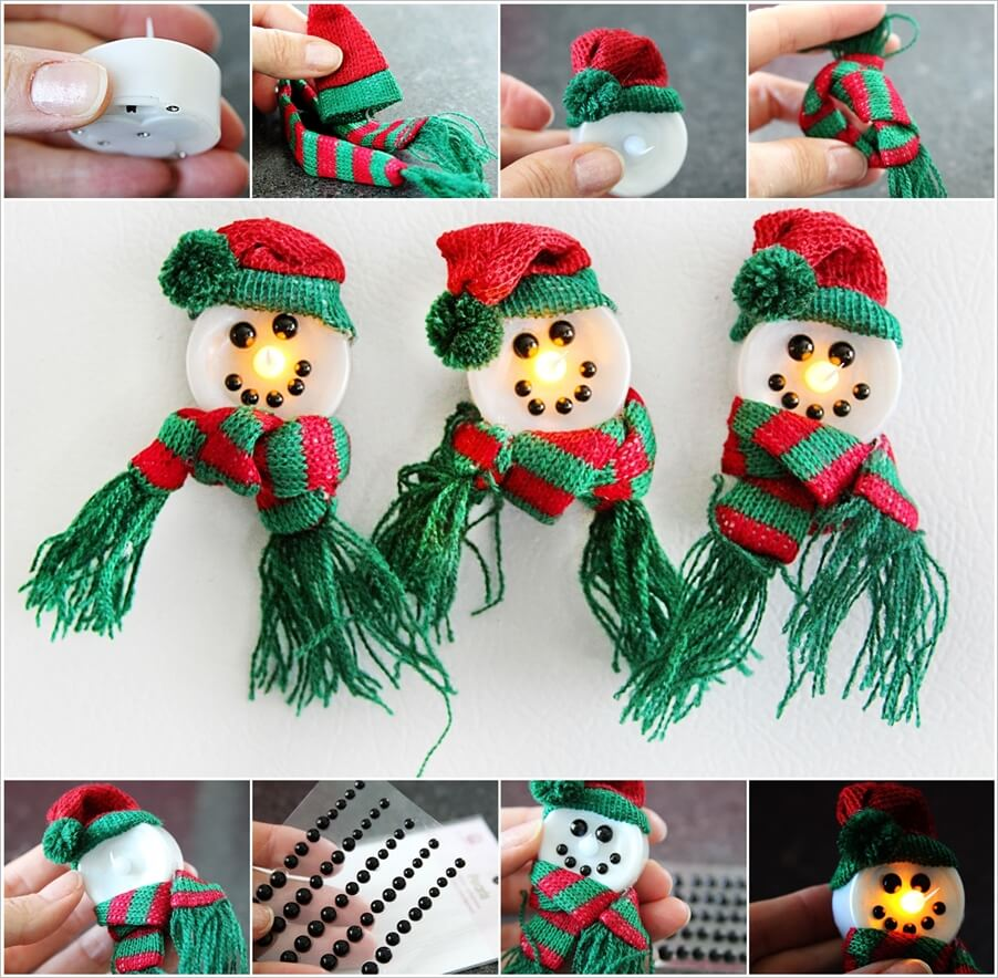 Make These Adorable Magnetic Snowmen 1
