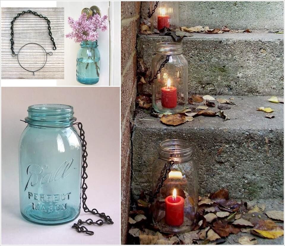 Make These Beautiful Hanging Mason Jar Lanterns 1