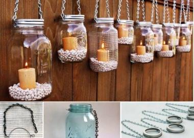 Make These Beautiful Hanging Mason Jar Lanterns fi