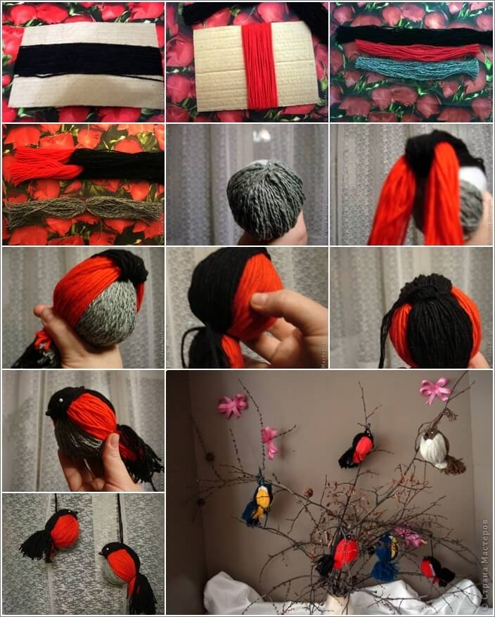 Make These Cute and Easy Yarn Birds 1