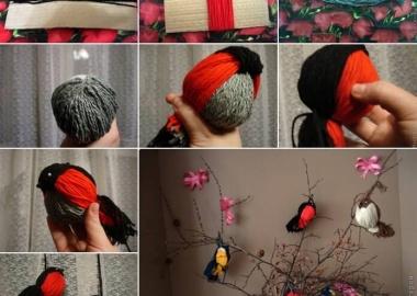 Make These Cute and Easy Yarn Birds fi