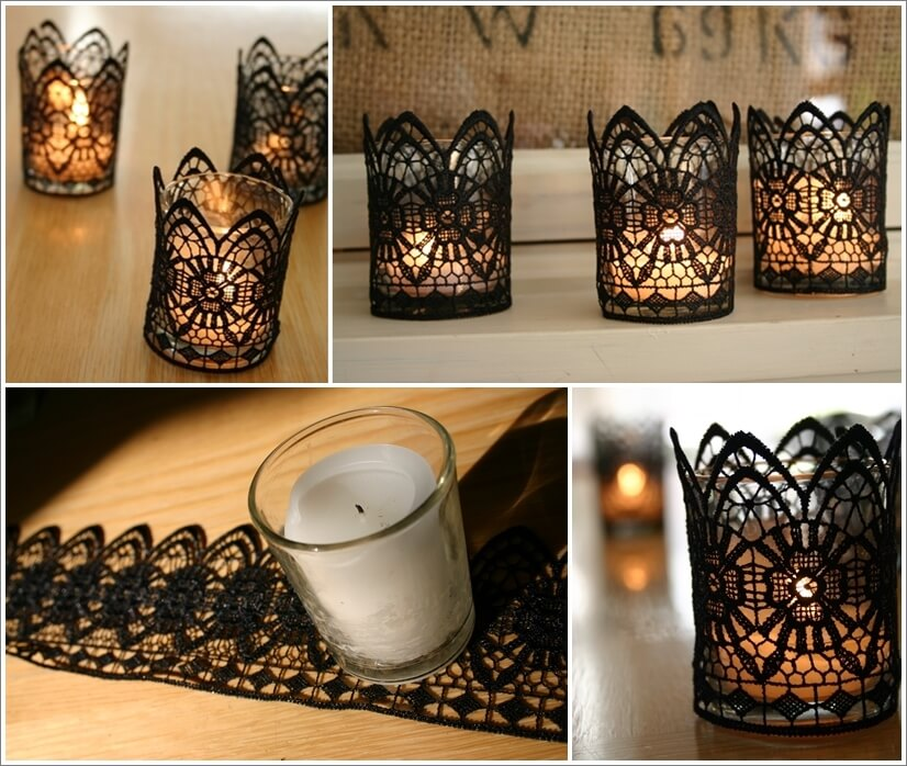These Black Lace Candles Are Just Stunning 1