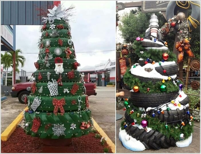 View These Fun Christmas Decor Ideas with Old Tires 1