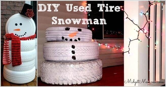 View These Fun Christmas Decor Ideas with Old Tires 2