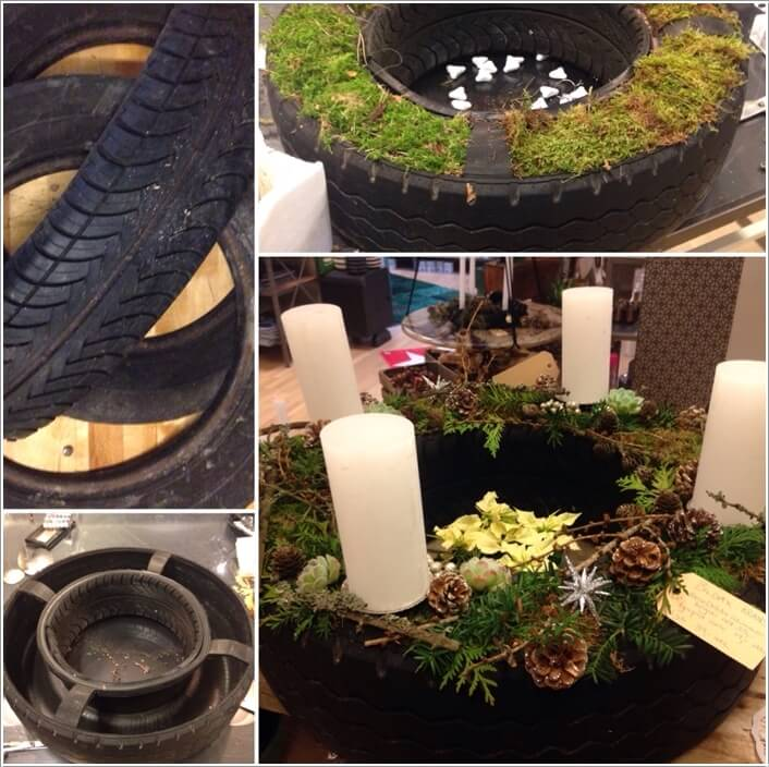 View These Fun Christmas Decor Ideas with Old Tires 3