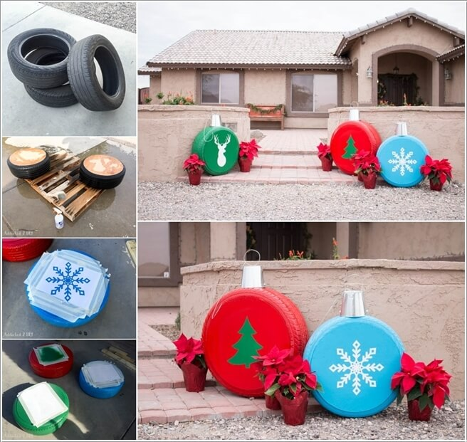 View These Fun Christmas Decor Ideas with Old Tires 4