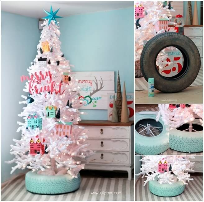 View These Fun Christmas Decor Ideas with Old Tires 5